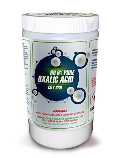 99 6% PURE OXALIC ACID Powder C2H2O4 (Ethanedioic Acid Dihydrate) Rust  Remover, 2lb