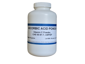 Ascorbic Acid (Vitamin C) Powder, USP/EP, 25 Grams